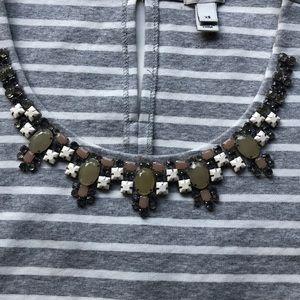 J. Crew Tops - J Crew Jeweled Tank